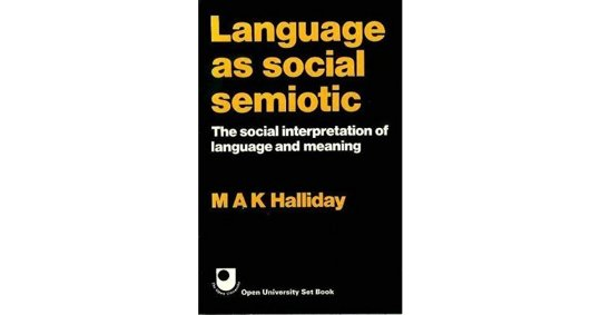 halliday front cover book social semitoic
